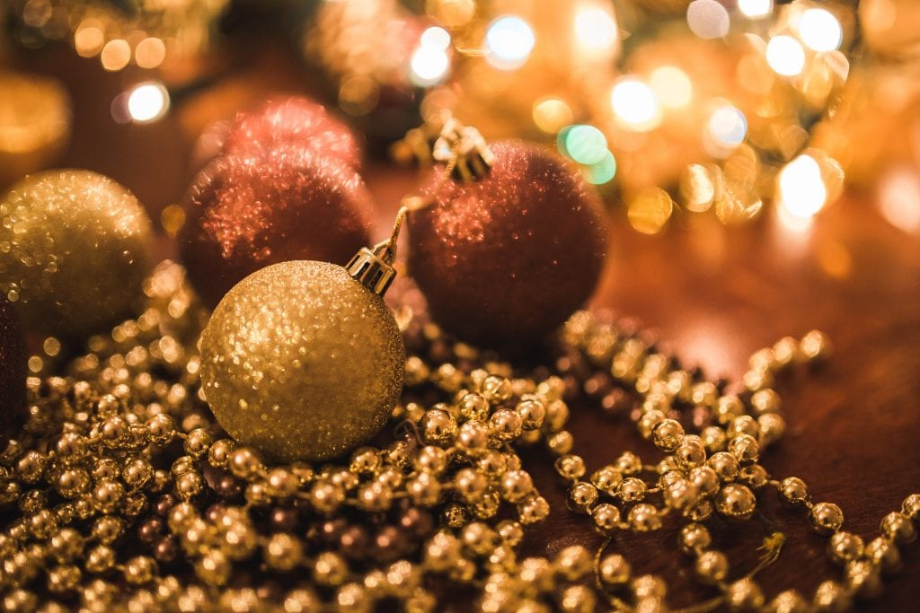 Christmas tree balls and beads